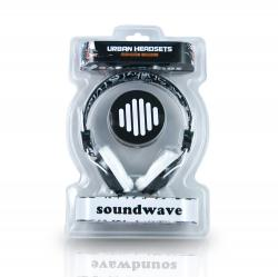 auricular b-move sound wave negro/blanco + micro