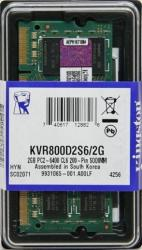 memoria sodimm ddrii 2gb pc800 kingston kvr800d2s6/2g
