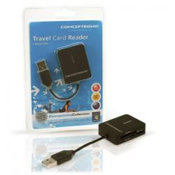 conceptronic multilector de tarjetas usb 2.0 travel (cmultitrv)