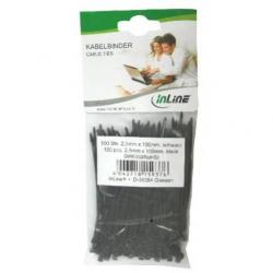 inline 59963g. bolsa 100 bridas negras 100mm(largo)x2,5mm(ancho)
