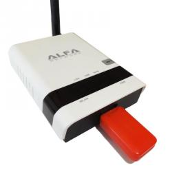 alfa network r36 router 500mw 3g + repetidor awus036h