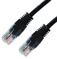 latiguillo rj45 cat.5e 10/100 utp awg24 negro/gris 1m