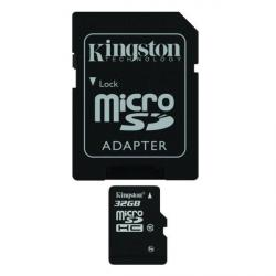 kingston microsdhc 32gb class 10 + adaptador