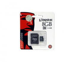 kit micro sd 8gb kingston clase 10 + adaptador