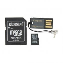 kit micro sd 16gb kingston clase 4 + adaptadores