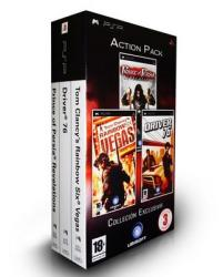 rainbow six vegas+pop revelations+driver 76 psp