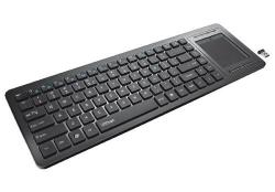 trust tacto wireless entertainment keyboard with touchpad