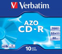 cdr verbatim 700 52x jewell 10
