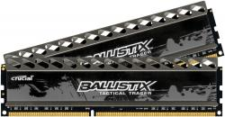 crucial ballistix tactical tracer series 8gb 2x4gb rojo/verde led ddr3-1600 cl8