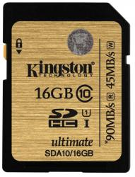 kingston 16gb sdhc clase 10 uhs-i ultimate