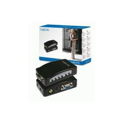 convertidor logilink pc a tv, vga a rca/s-video