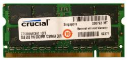 memoria crucial 1gb sodimm ddr2 667mhz pc2-5300 cl5