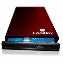 coolbox slimchase 2520 roja usb 2.0