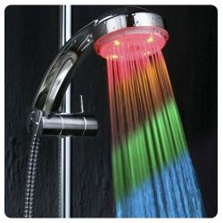 ducha led, cambia de color con la temperatura