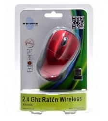 raton kl-tech krw407 wireless rojo