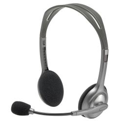 auriculares logitech h 110 stereo plata