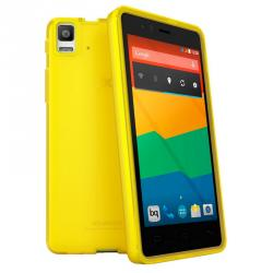 aquaris e5 gummie cover amarillo