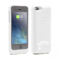 funda bateria iphone 5/5s/5c blanca