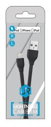 cable usb lightning trust 1m negro