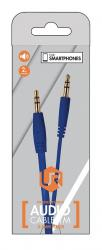 cable audio trust 3.5/m-3.5/m 1m azul