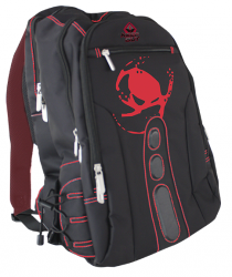 mochila keep out bk7r gaming negro/rojo