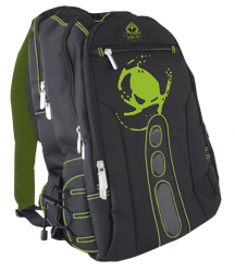 mochila keep out bk7g gaming negro/verde