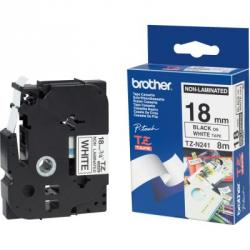 brother cinta no laminada tzen241 18mm b/n