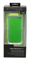 altavoz powerbank talius bluetooth verde 28bt