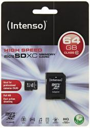 micro sd 64gb intenso clase 10