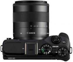 canon eos m3 kit + ef-m 18-55 is stm