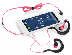 auriculares ngs triton sport pink