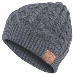 gorro con auriculares archos music beany gris