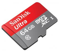 sandisk microsdxc 64gb ultra android clase 10