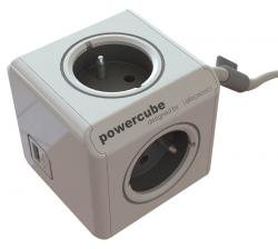allocacoc powercube extended usb 3m gris