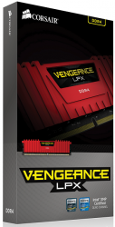 corsair vengeance lpx rojo ddr4 2400mhz 8gb cl14