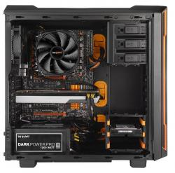 be quiet silent base 600 naranja ventana