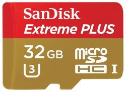 sandisk extreme plus microsdhc 32gb class10 + sd adapter