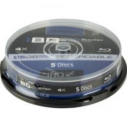 blu-ray 25gb intenso pack 5