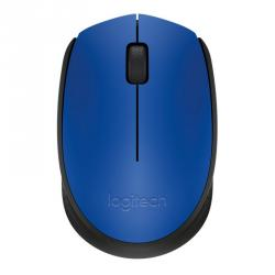 logitech wireless mouse m171 azul/negro
