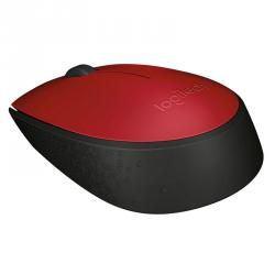 logitech wireless mouse m171 rojo/negro