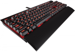 corsair k70 lux led rojo gaming cherry mx red español