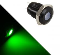 lamptron sw2003-h 18mm negro led verde