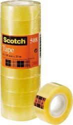 cinta adhesiva transparente scotch 19mm x 33mm - 8 unidades