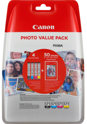 tinta canon multipack cli-571 bk/c/m/y + photo paper value pack