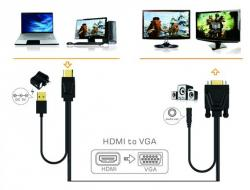 adaptador approx appc22 hdmi a vga + sonido + video