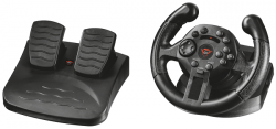 trust gaming gxt 570 compact vibration racing wheel ps3/pc