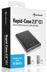 carcasa sharkoon rapid-case usb 3.1 2.5'' plata