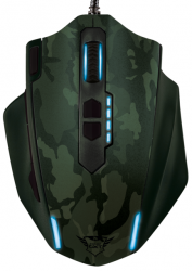 trust gxt 155c gaming mouse verde camuflaje
