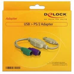 adaptador delock usb m a 2xps/2 h