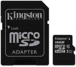 kingston microsdhc 16gb class 10 + adaptador